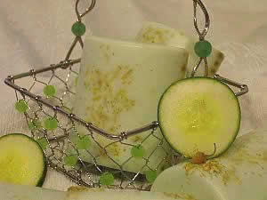 cucumber chamomile melt and pour soap by lisa maliga