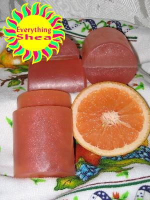 pink grapefruit essential oil soap