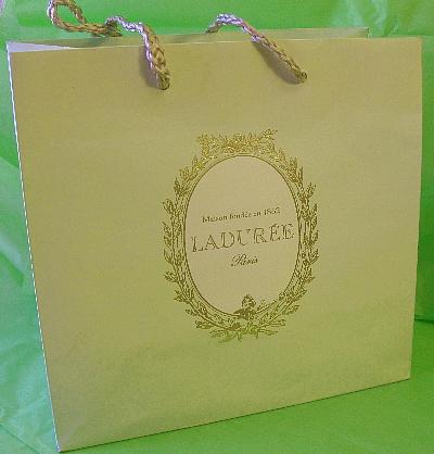 laduree seafoam green gift bag