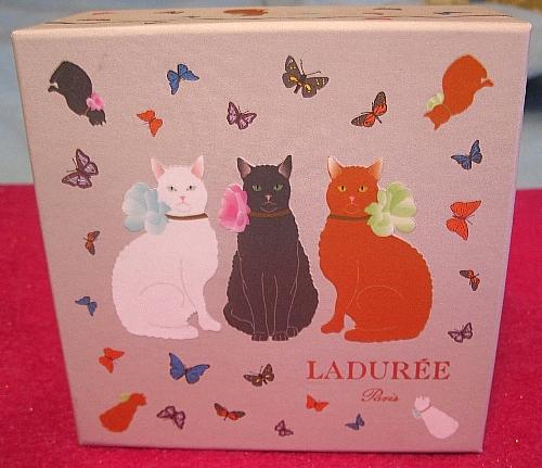 laduree macarons cat box