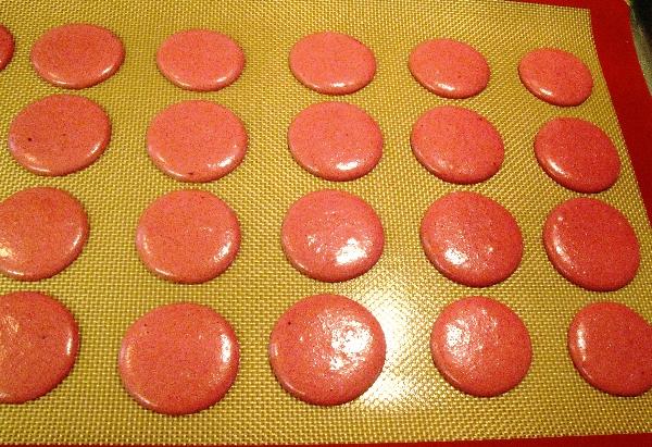 raspberrymacaronsdrying