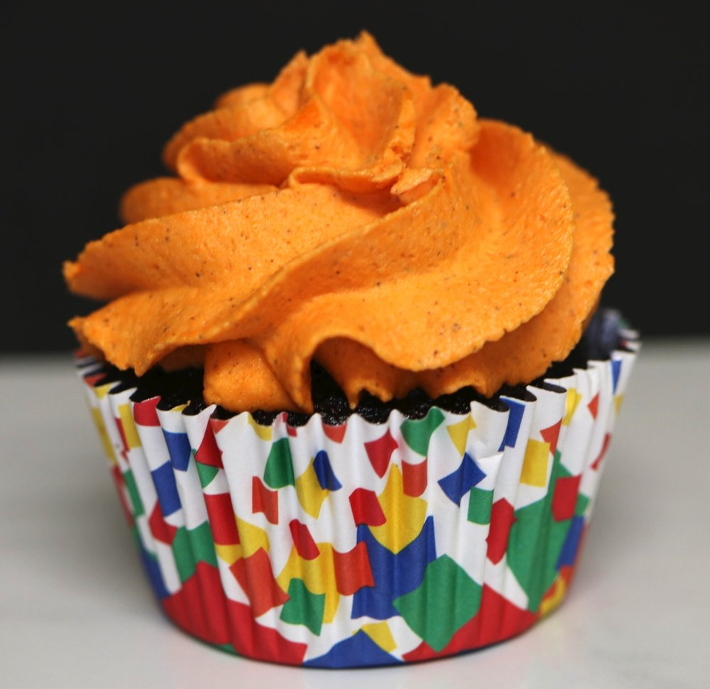 chocolate orange spice cupcake baked by lisa maliga