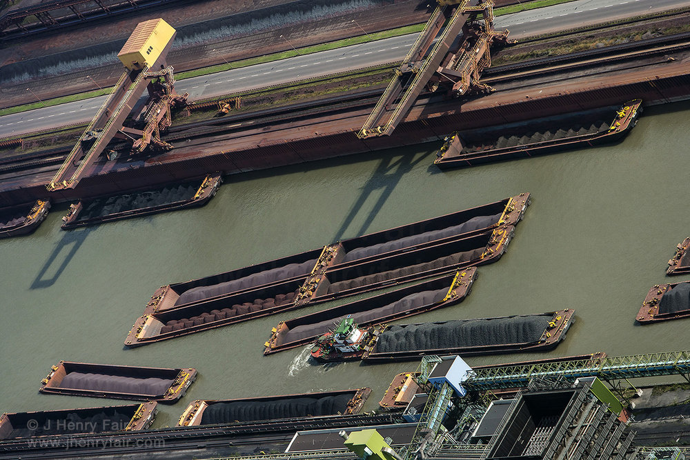 Waiting- Barges At Steel Mill