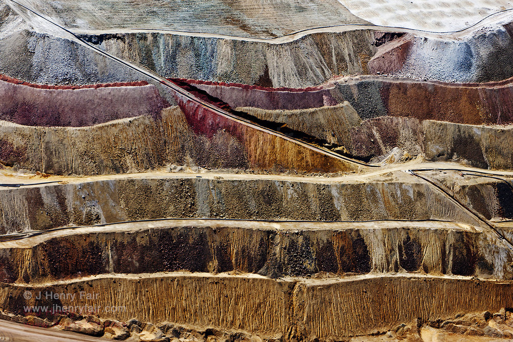 Apache Copper- Inside Wall Of Open-Pit Copper Mine