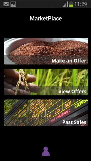 Marketplace App user interface