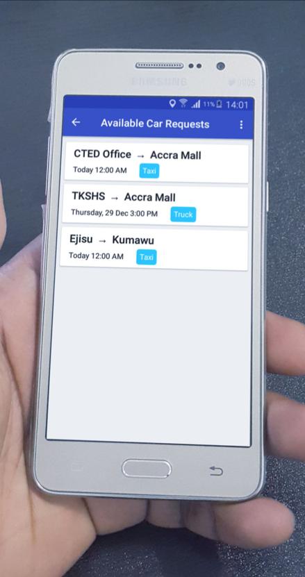 Live Tracker app user interface