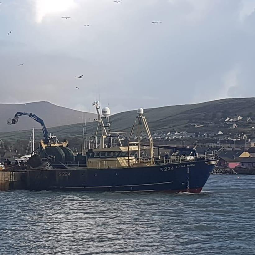 Our trawler, Cu Na Mara.