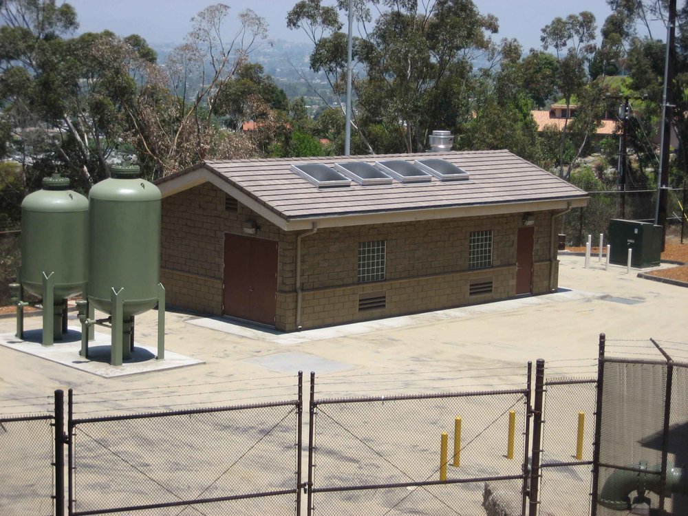 Calavo Pump Station Finished    Helix Water District