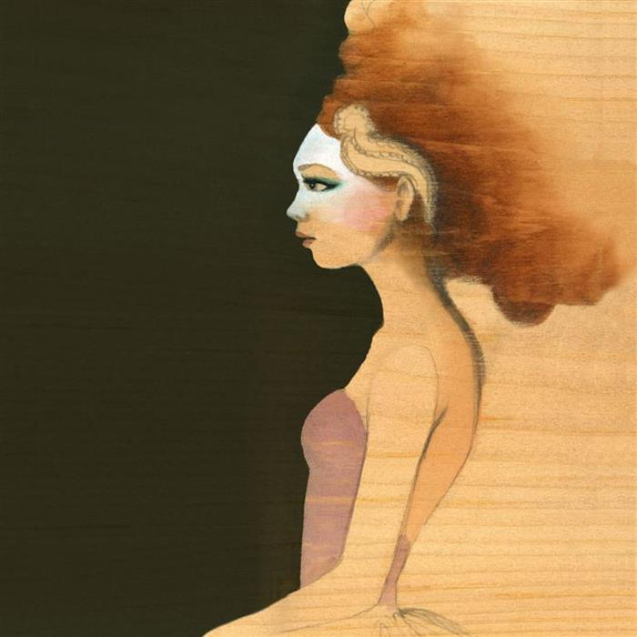 """""""Waiting"""" - Ballerina waiting in the wings Watercolour Illustration on wood by Alicia's Infinity - www.aliciasinfinity.com"""