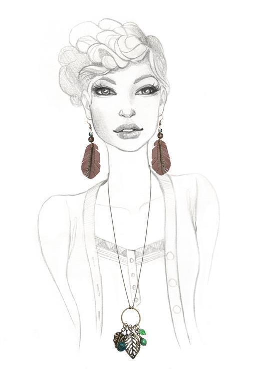 Fashion Illustration - Jewellery - by Alicia's Infinity - www.aliciasinfinity.com