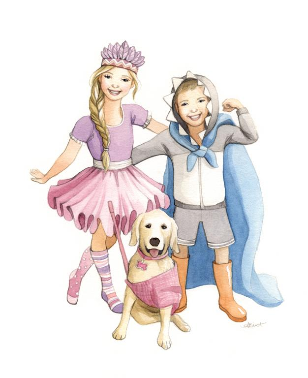 Custom Children Family Portrait - Watercolour Illustration by aliciasinfinity-WEB.jpg