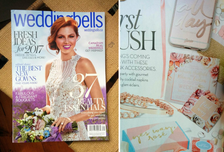 featured in weddingbells magazine -