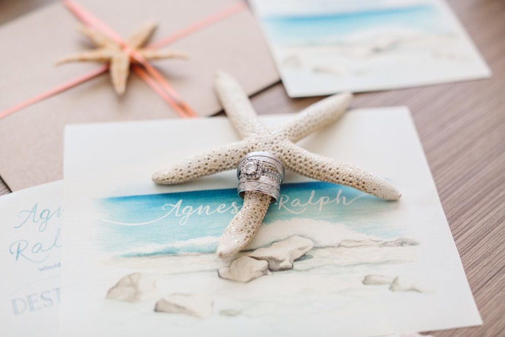 Tropical Beach Destination Wedding Invitations and Stationery by Alicia's Infinity - www.aliciasinfinity.com