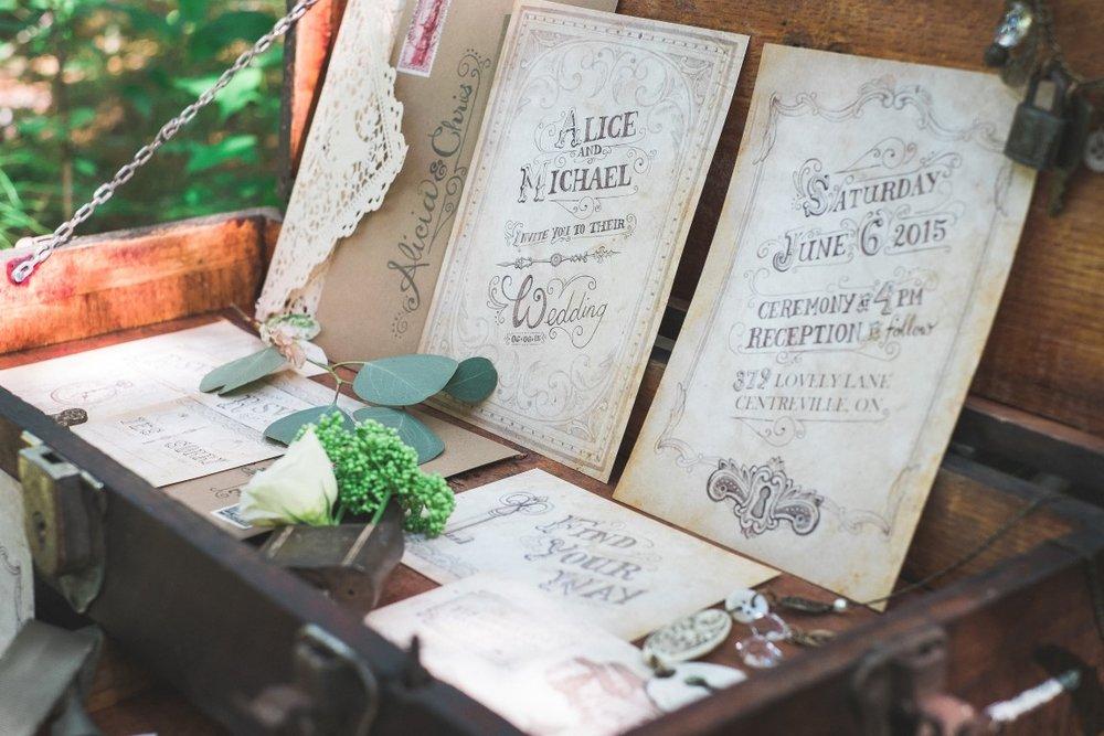 Vintage Tea-Stained Steampunk Wedding