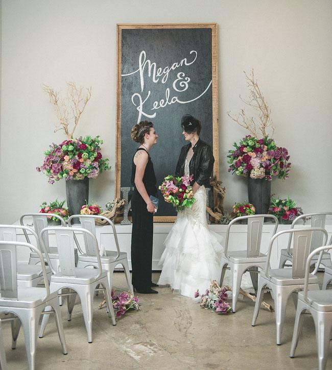 Green Wedding Shoes // Industrial Distillery Wedding Inspiration
