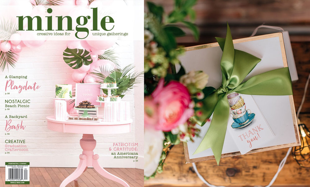 Mingle Magazine // Summer Tea Party Bridal Shower