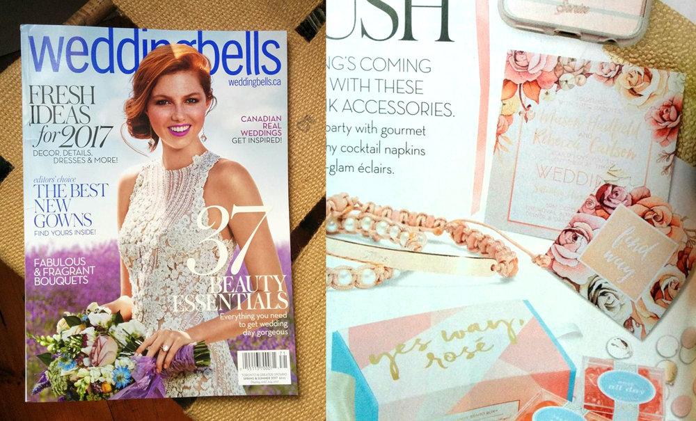 Weddingbells Magazine // First Blush Rose Gold Wedding Feature