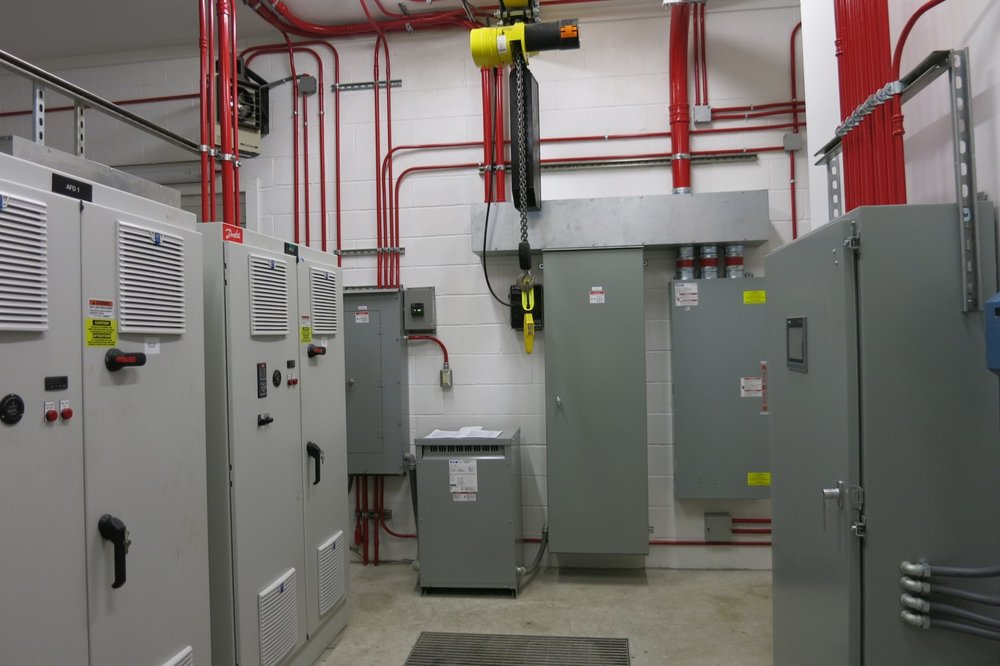Waste Water Treatment Facilities - Power structures for water management.