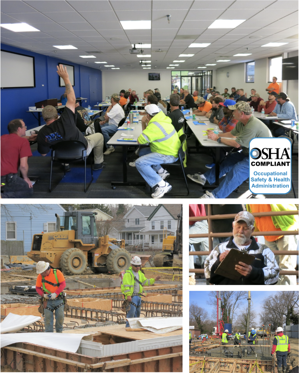 Our Commitment To Safety - Shaw Construction Corporation has adopted extensive policies, procedures, and incentives that are all designed to provide a safe and healthy work environment for all employees, subcontractors, and customers. We believe a safe and healthy work environment is top priority, and we develop site-specific safety procedures that meet the goal of accident free work sites. We employ and offer the following as a minimum to our safety and health program:• Safety professionals to initiate and monitor safe work practices.•A detailed safety manual with employee training guidelines specified in each program.•All foremen have completed the OSHA 30-hour construction safety training course.•Daily pre-task safety planning meetings.•Weekly toolbox safety talks on all jobsites.•Regular jobsite safety inspections.•A 100% drug-free workplace program.Through proven methods and employee training, we have and maintain one of the lowest EMR ratings, and have some of the lowest recordable injury frequency rates in our industry.