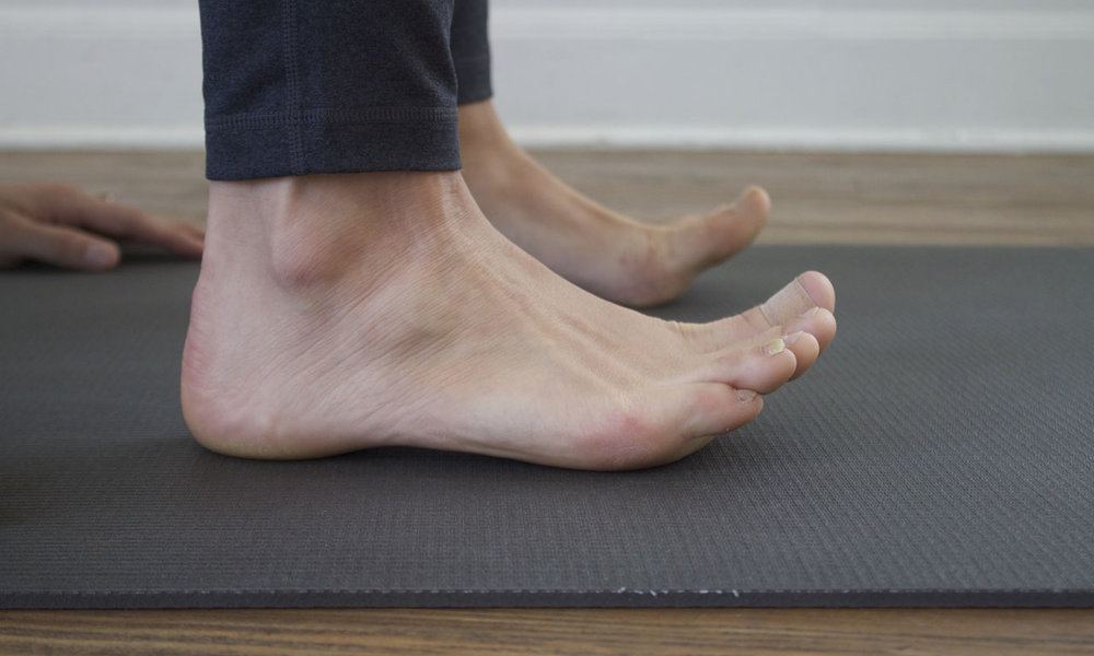 - Your feet should be just as active here as they are in Tadasana, Mountain Pose.
