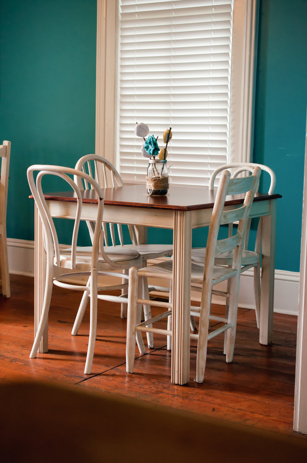 """Lauren C. said… - """"Went to Back on the Racks this weekend looking for some home furnishings and discovered a beautiful kitchen table with a set of 4 chairs marked very reasonably.Colleen was very helpful and friendly. The delivery guys were both courteous, they were great with getting everything setup where we wanted it and making sure we were happy with it. All of the employees that assisted us were polite and helpful with looking the table over and arranging delivery that arrived the very next day. In addition, they also took away our high-top table that is now on consignment.Overall, extremely pleased with the customer service and care from the staff at this location. We will definitely be stopping in again to see what new items are for sale."""""""