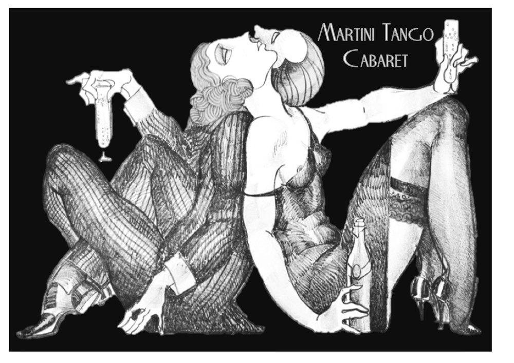 Martini Tango Cabaret Creswick artwork by Juarez Machado