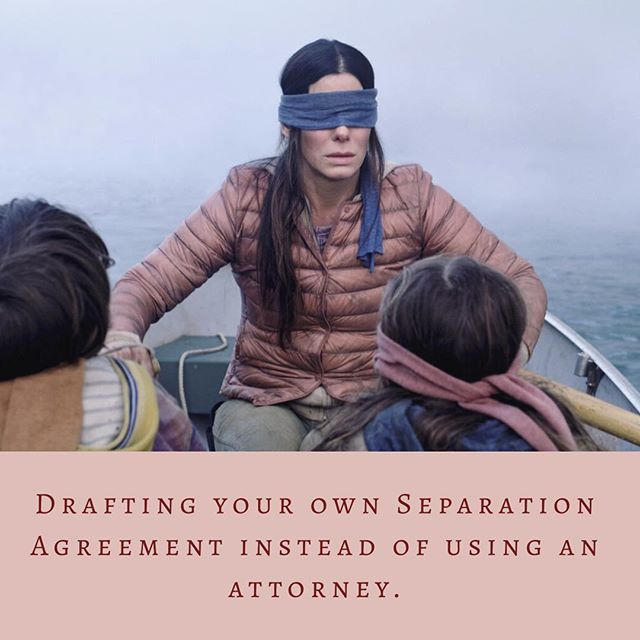 Don't let this be you. 🙈 #birdbox #birdboxmemes #virginialawyer #divorce #familylaw #custody #spousalsupport #attorney #lawfirm #hadleylaw #virginiabeach #hamptonroads #law #childsupport
