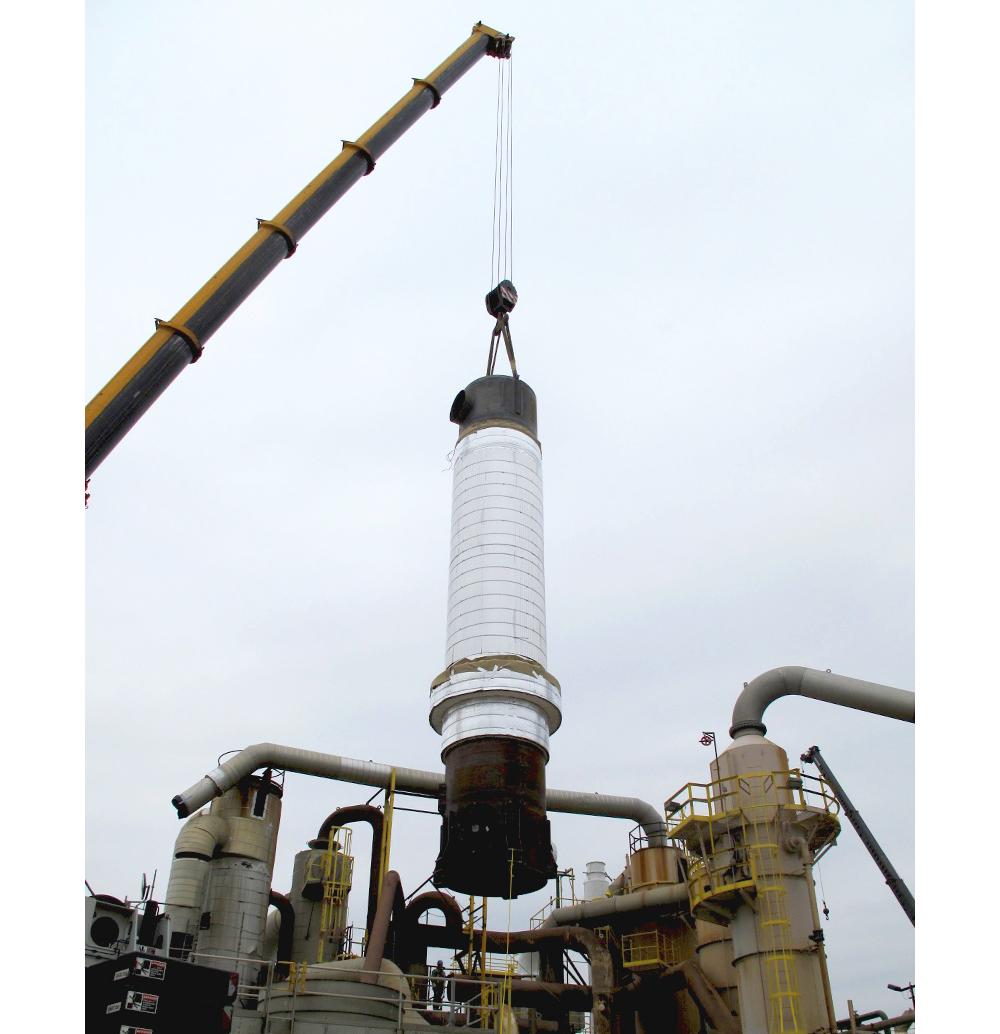 VPRR Radial Heat Exchanger Installed in Sulfuric Acid Plant