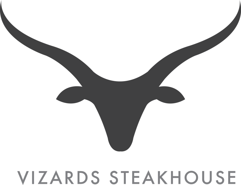 - A clean silhouette of a long-horn bull accents this high end steakhouse's menu and branding. - Freelance Client