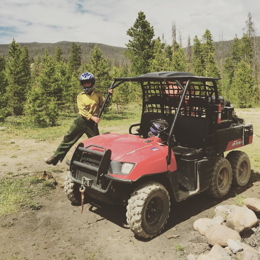 Patrolling high use areas and putting out abandoned campfires is a huge part of some forest protection policies. There's a water tank on the back with a hose and a pump. UTVs offer a quick way to cover large areas with bumpy roads as the only access.