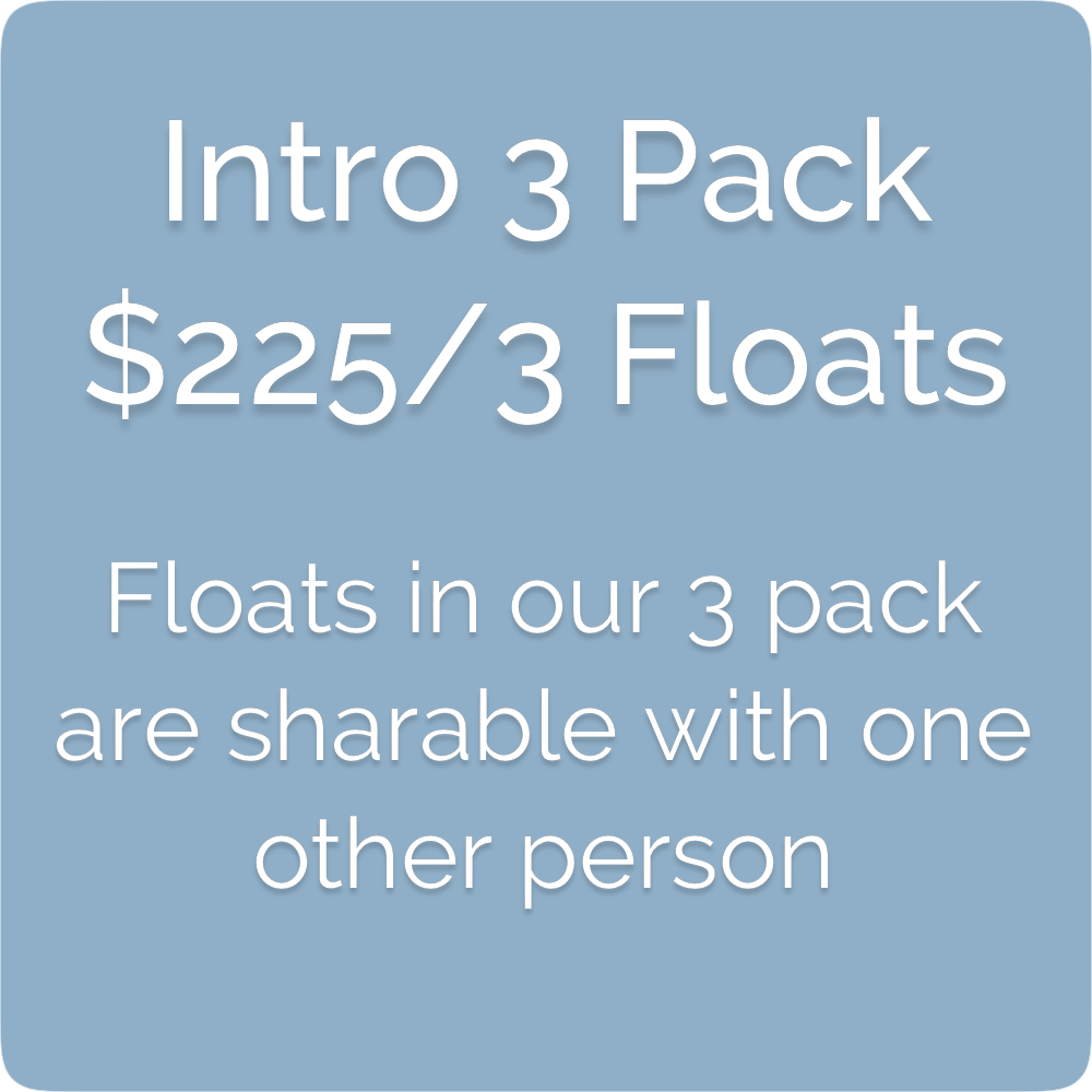 Float Realm Float Therapy in Saratoga near San Jose, Bay Area. Sensory Deprivation Tanks. Float Tanks. Float 3 pack- $225