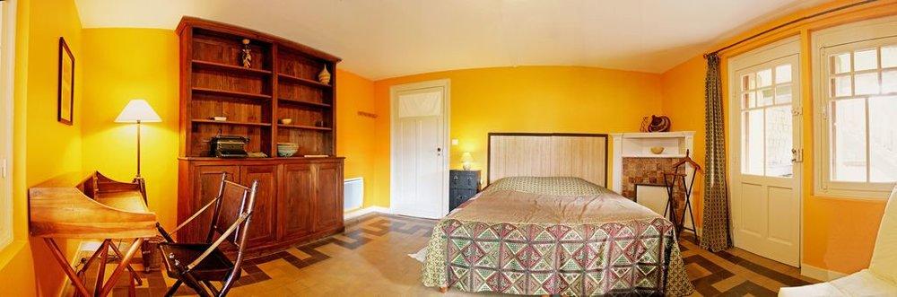La chambre  Rafiki  et son accès à la terrasse
