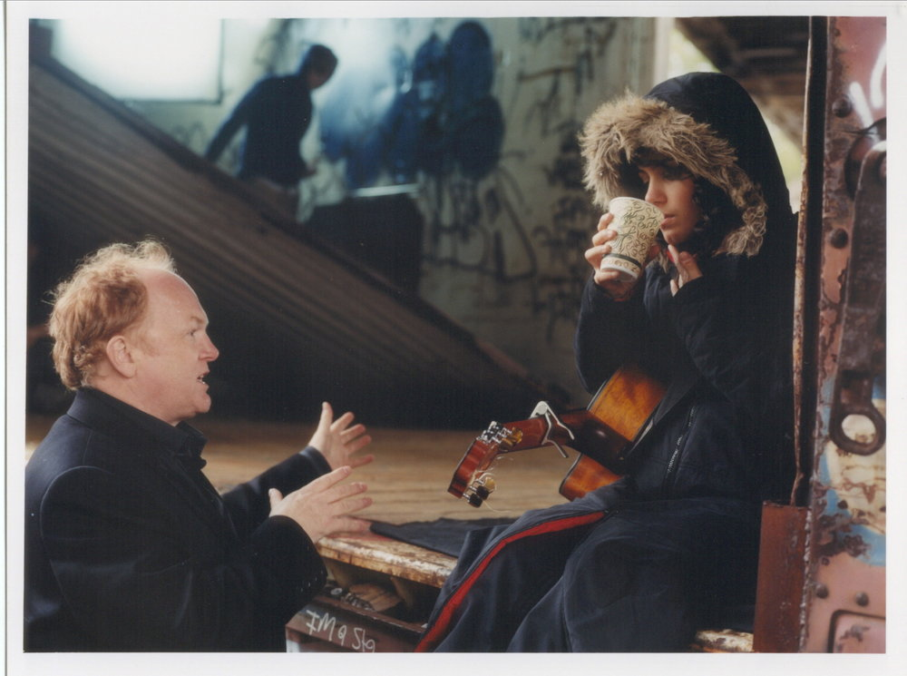 Mike Batt directing the Katie Melua promo video for Crawling Up A Hill
