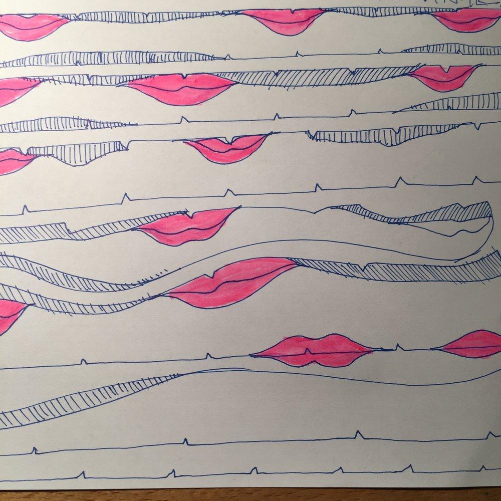 Lips doodlescape
