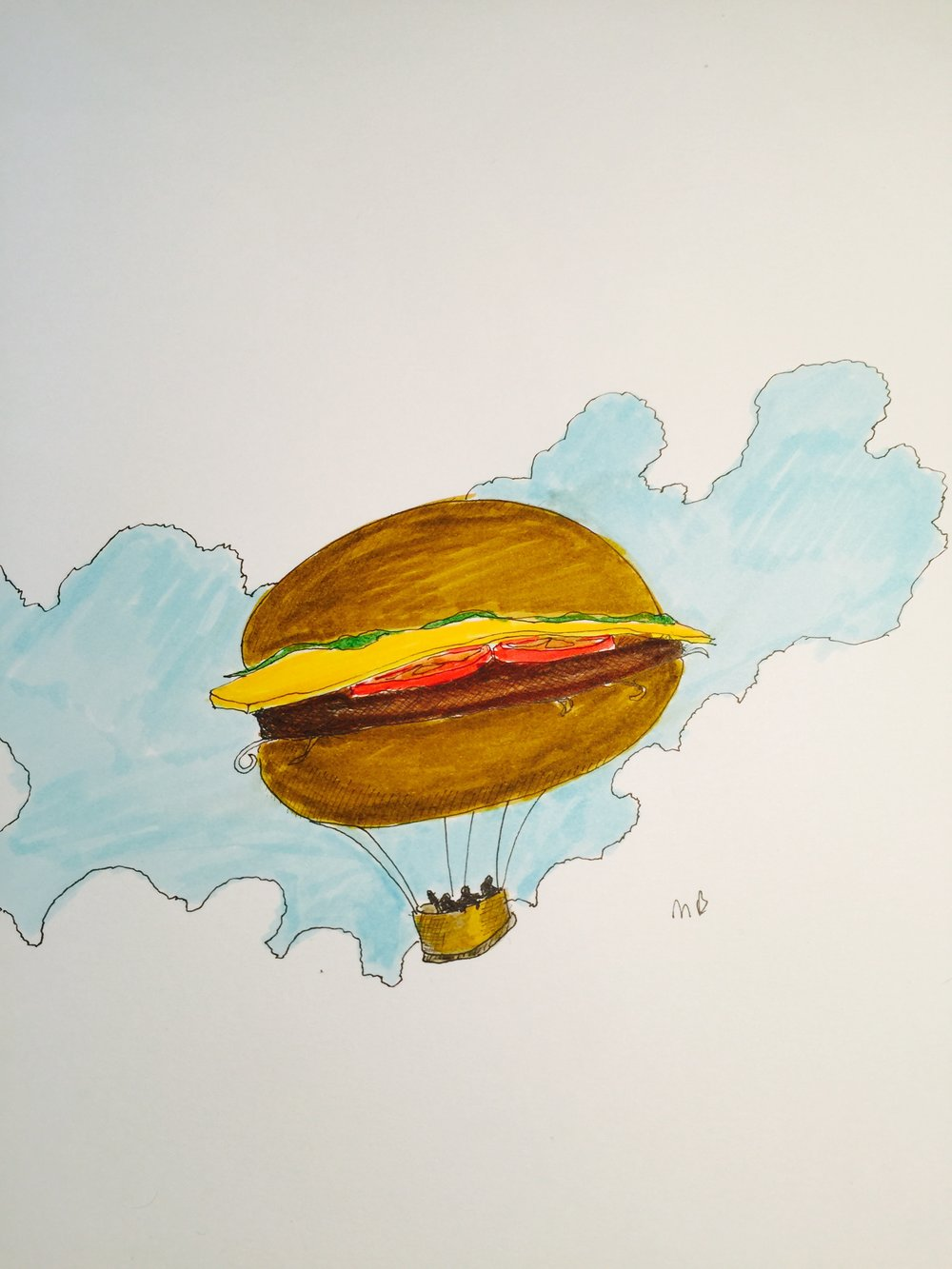 Hamburger balloon