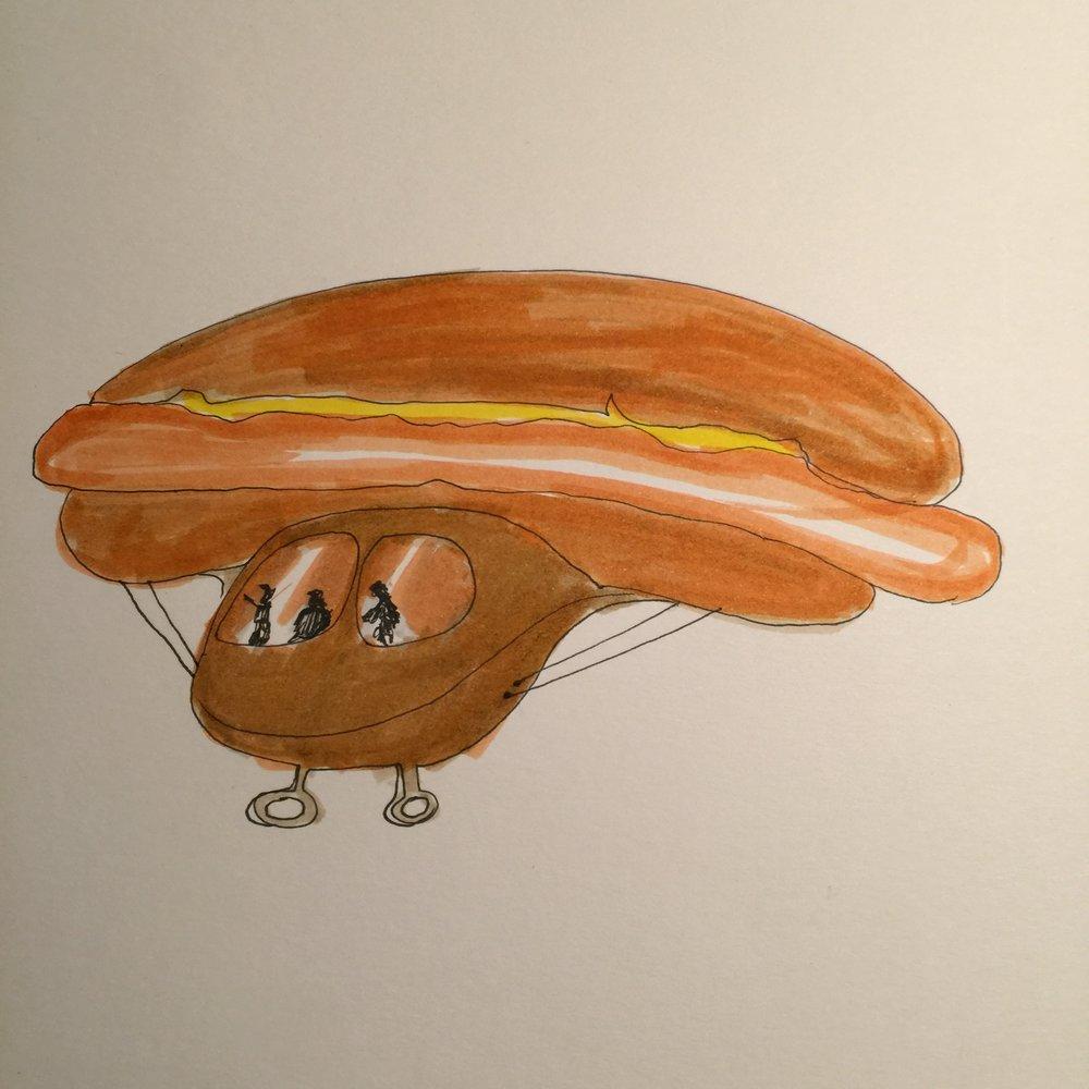 Aerial hotdog