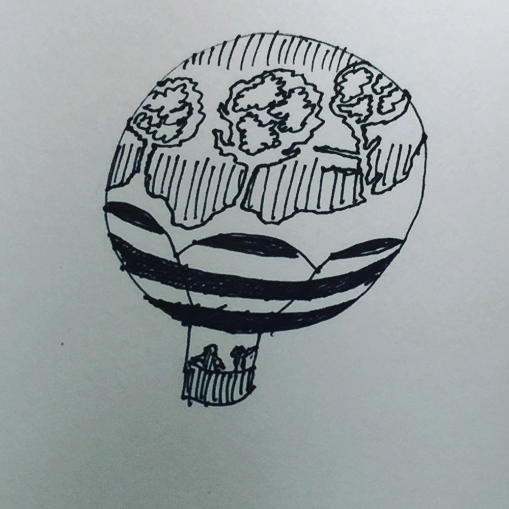 Another (rougher) balloon doodle