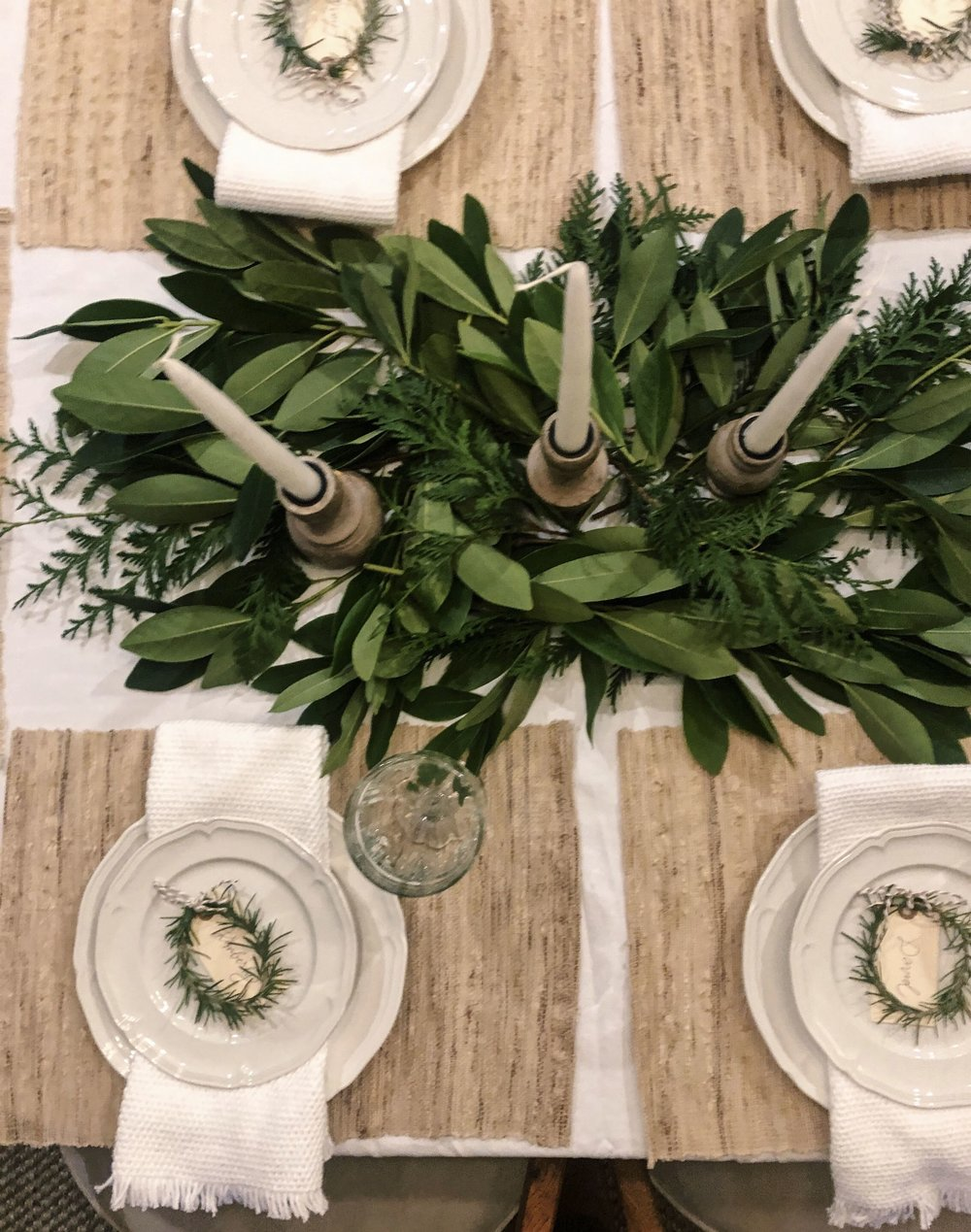 Kaylee used table decor my Mom already had around the house. I love the mix of natural and familiar elements she used, that all came together for a cozy meal.