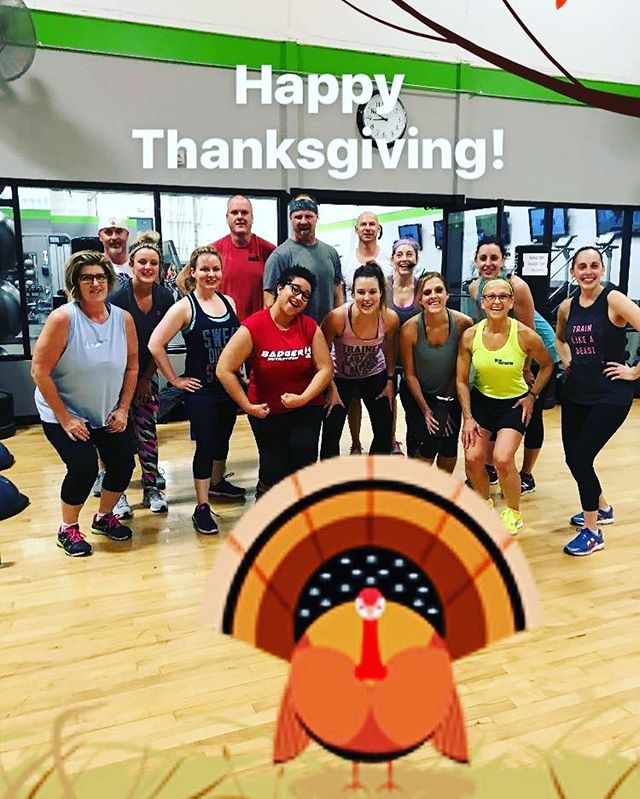 Happy Thanksgiving!  We are grateful for all of our members, and a special thank you to those who came in for our special Turkey Burn Circuit this morning!! #ptfcommunity #ptfjanesville #turkeyburn