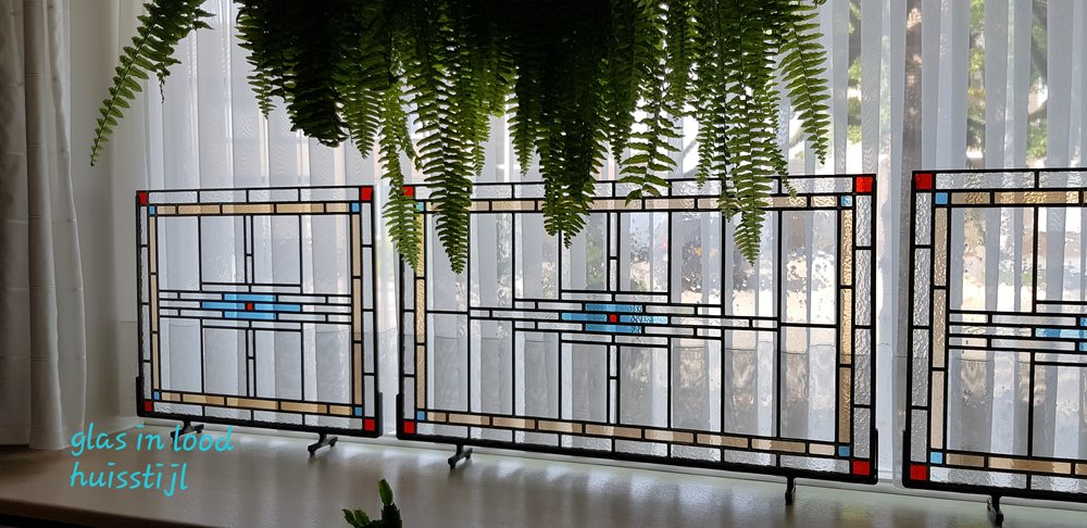 3) Glas in lood van Tiffany Shop Wim Huis stijl