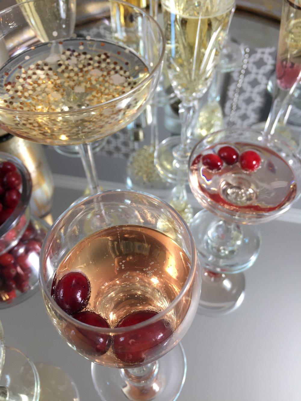 champagne buffet beauty