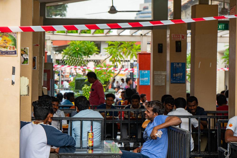 Locals dining near the Tan Teng Niah villa