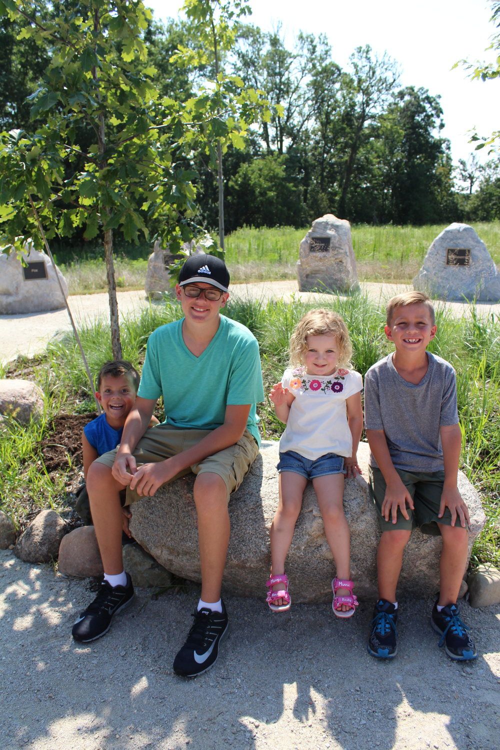 Smiling kids at Prophetstown State Park