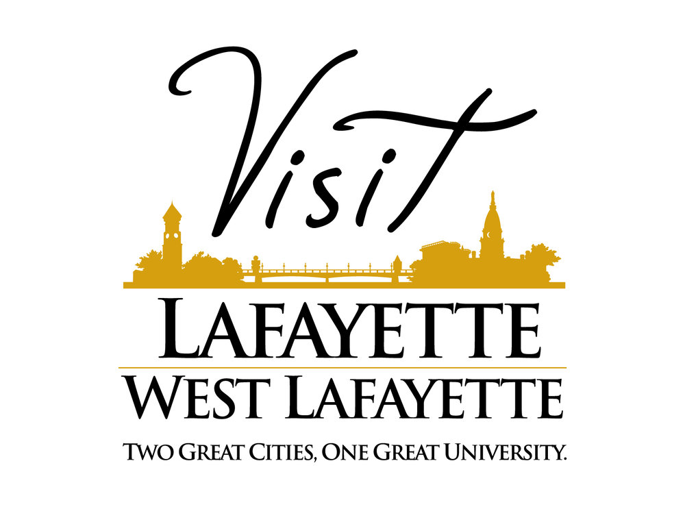 Visit Lafayette/West Lafayette logo - Two great cities, one great university