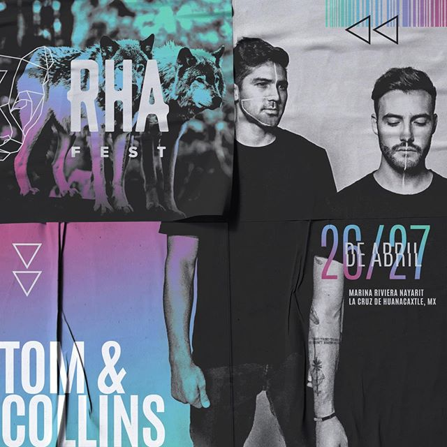 Local legends @tomandcollins are taking their talents to #RHA2019 for a weekend of House & Techno under the Mexico sun. Weekend passes on sale now, current tier moving fast!! 🍾👽🎶 bit.ly/RHA2019
