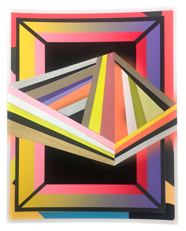 IRSKIY x ALYSON KHAN - Acrylic on Giclee Print2017