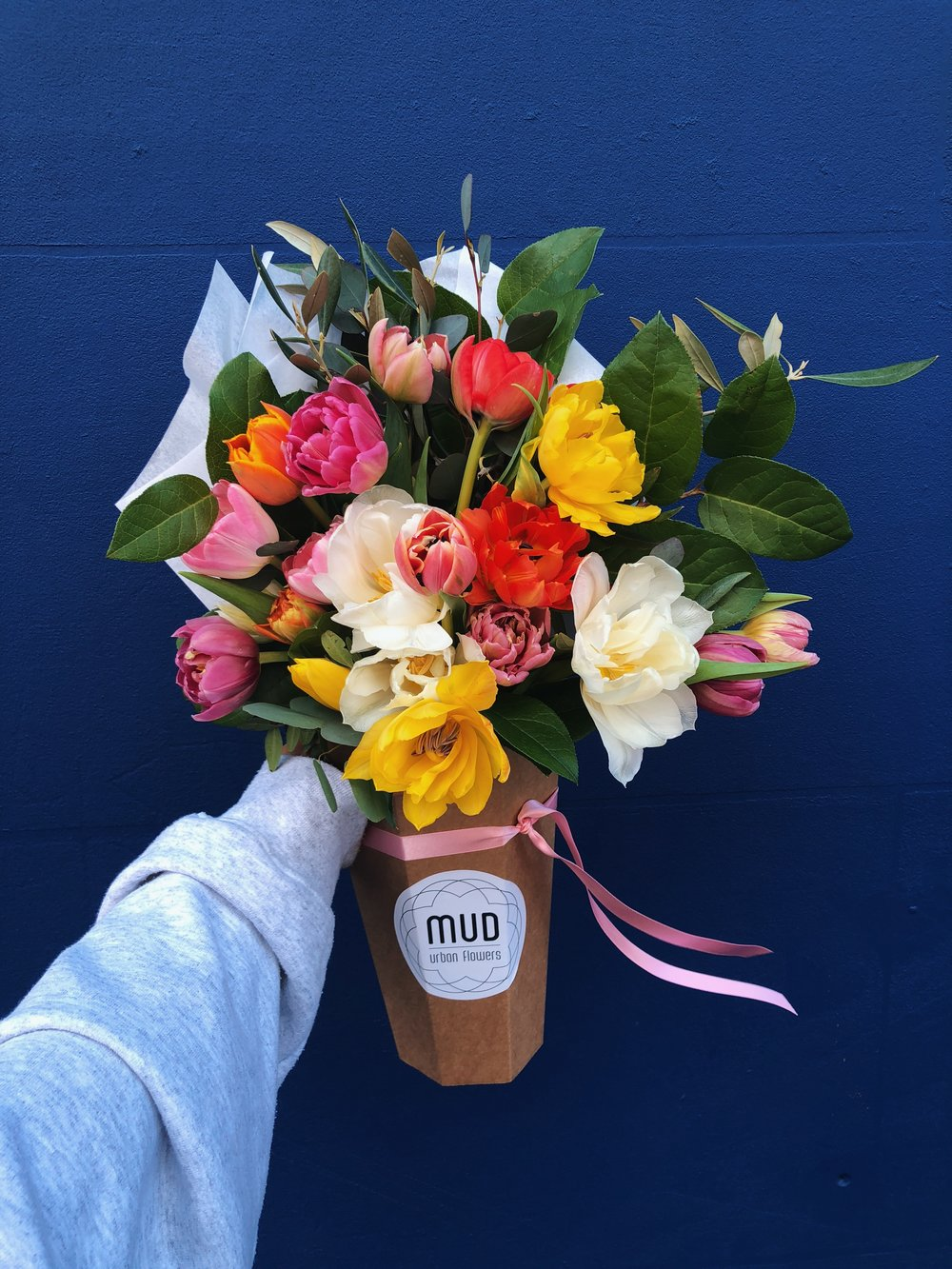 """- """"We love working with Mud, such a fresh concept in flower bouquets"""""""