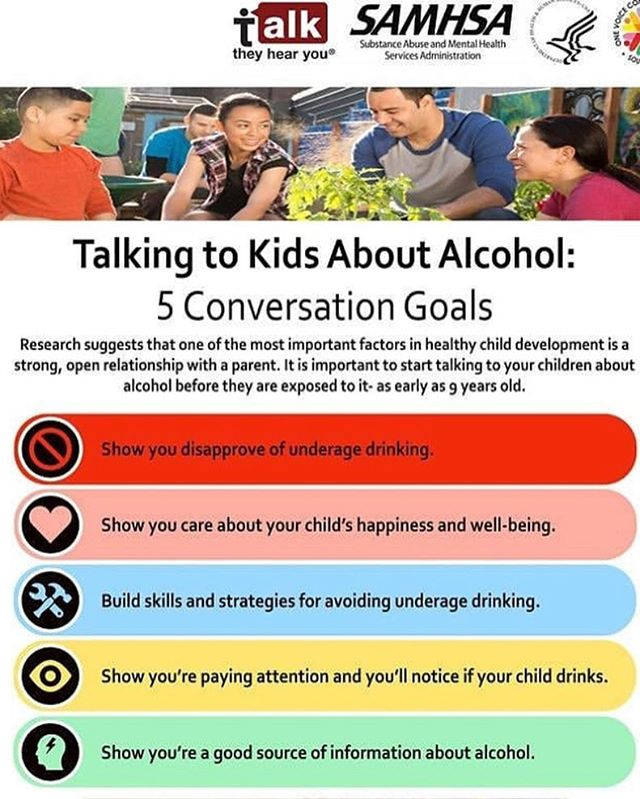 Preventing Underage Drinking in Your Hone with these Conversation Goals from SAMHSA's Talk, They Hear You campaign