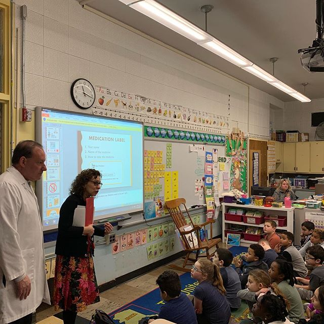 2nd Medication Safety at the  Wilkins elementary school this morning. Thank you Nurse Kaplan, our Pharmacist Brown, @stoughtonpublicschools and the @stoughtonpolicedepartment !