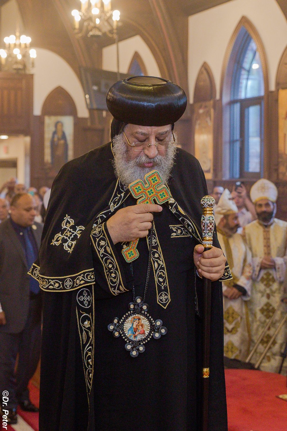 His Holiness Pope Tawadros II on his visit to St.Mary & St.Moses Coptic Orthodox Church on September 17, 2018